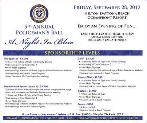 5th Annual Policeman's Ball