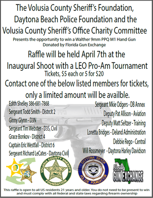 Foundation Raffle for a Walther 9mm PPQ M1 Hand Gun!!!