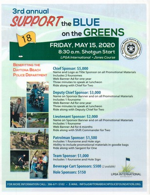 3rd annual 'Support the Blue on the Greens' Golf Tournament.
