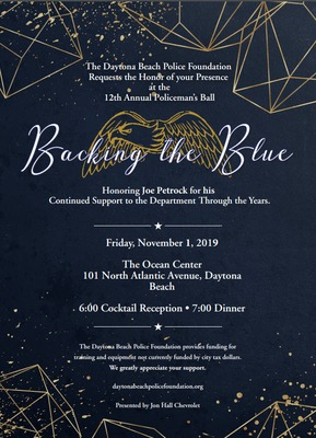 12th Annual Policeman's Ball, Friday November 1, 2019